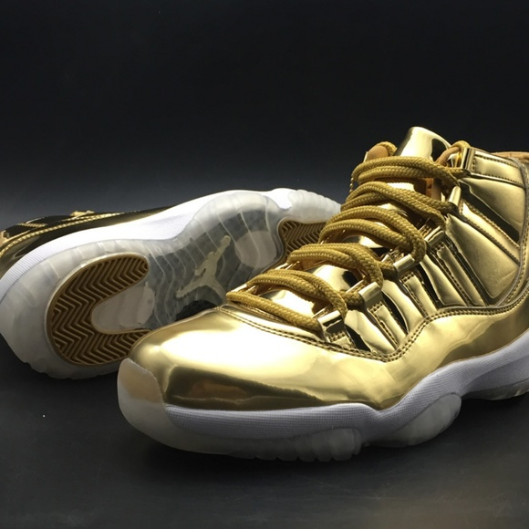 8b390313f8b Shoes | Airjordan11metallicgoldwhitekawhileonardfo | Poshmark
